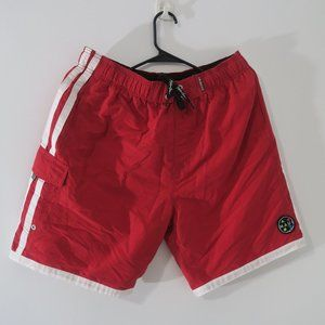 Maui and Son Red Swim Trunks